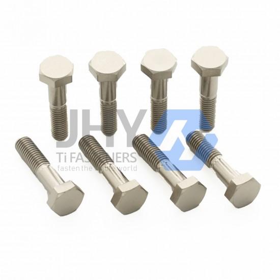 钛A级和B级半螺纹六角头螺栓
